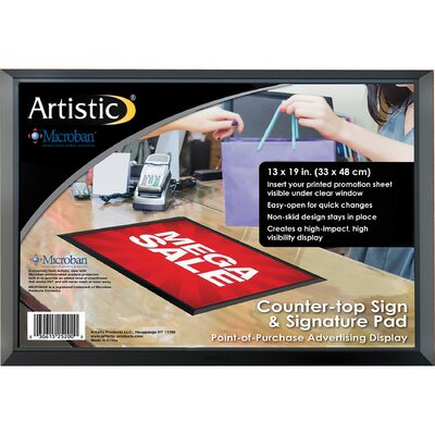 """ADHere Countertop Sign/Signature Pad with Microban Size: 13"""" H x 19"""" W x 0.25"""" D"""