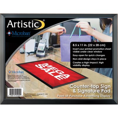"""ADHere Countertop Sign/Signature Pad with Microban Size: 8.5"""" H x 11"""" W x 0.25"""" D"""