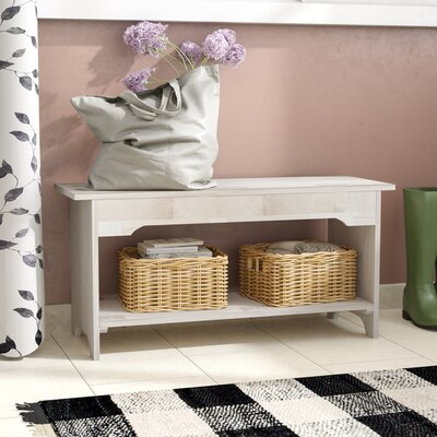 Toby Wood Storage Bench Size: 36""