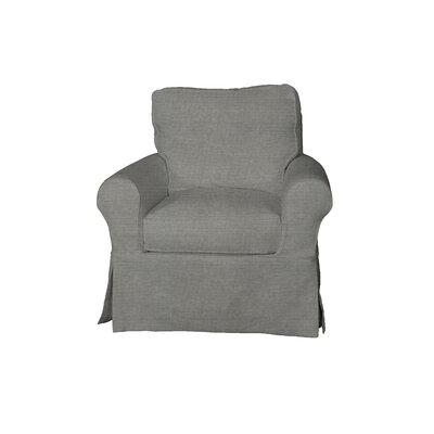 Telluride Swivel T-Cushion Armchair Slipcover Upholstery: Gray