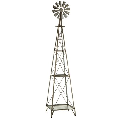 """72.88"""" x 16"""" Galvanized Windmill Shelf"""