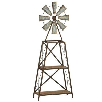 """36.75"""" H x 14.13"""" W Windmill Two-Tier Shelf"""