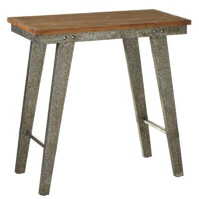 Alborghus Tall Natural Top Galvanized Leg Console Table