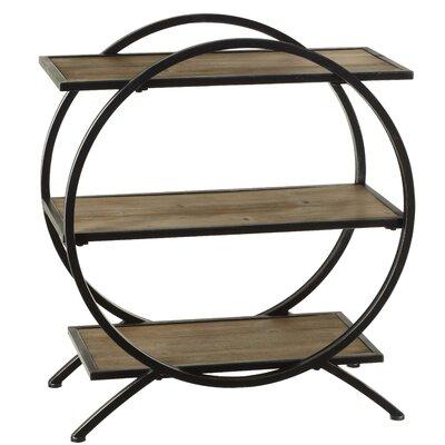 "32.25"" H x 28"" W Three Tier Circle Floor Shelf"