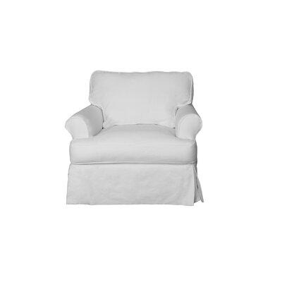 Telluride T-Cushion Armchair Slipcover Upholstery: White