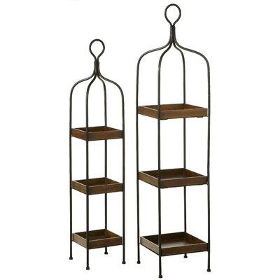 Three Tiered 2 Piece Shelf Set