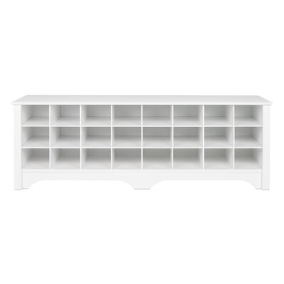Ingham Shoe Cubby Storage Bench Color: White