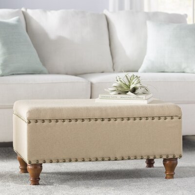 Oakford Upholstered Storage Bench Upholstery: Vanilla