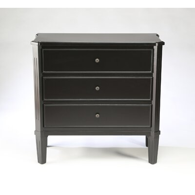 3 Drawer Accent Chest Color: Black