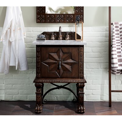"Avedon 26"" Single Bathroom Vanity Set Top Finish: Carrara White"