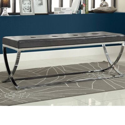 Haig Stylishly Compelling Metal Bench Color: Black