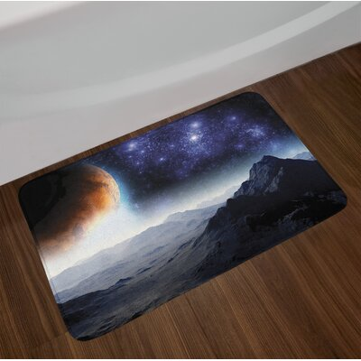 Outer Space Bath Rug