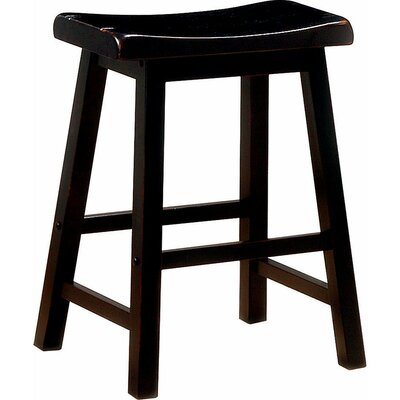 "Weisgerber Wooden Casual 23.75"" Counter Height Bar Stool Color: Dark Brown"