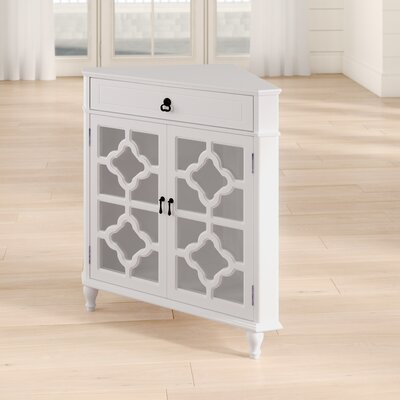 Moretown 1 Drawer 2 Door Accent Cabinet Color: Antique White
