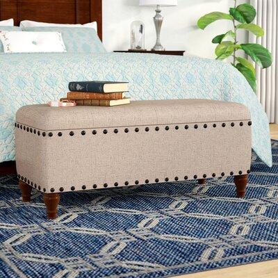 Sasha Upholstered Storage Bench Upholstery: Tan
