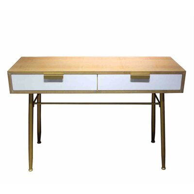 Eckenrode 2 Drawer Wooden Console Table