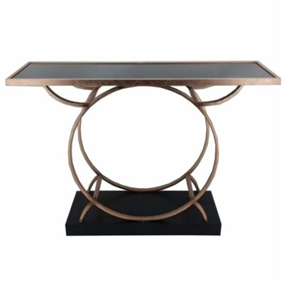 Frenette Metal Console Table