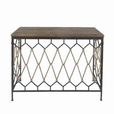 Werner Wood and Metal Console Table