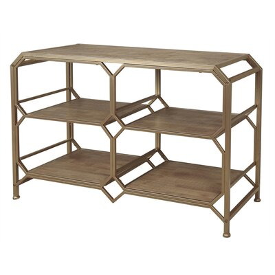 Laflamme Wooden and Metal Console Table