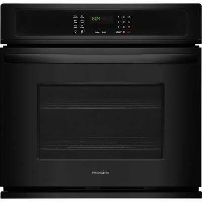 "27"" Self-Cleaning Electric Single Wall Oven Finish/Color: Black"