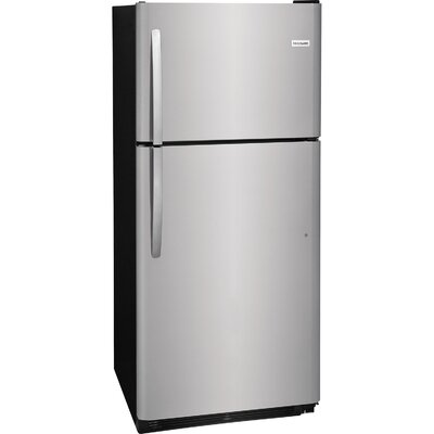20 cu. ft. Top Freezer Refrigerator Finish: Stainless Steel