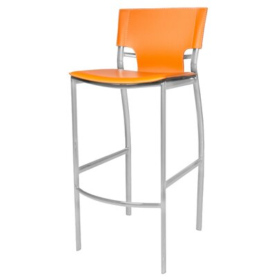 Schmeing Bar Stool Color: Orange Tan