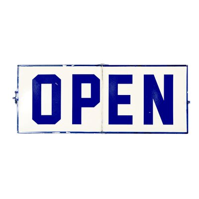 Open and Closed Hinge Sign