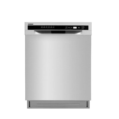 "Semi-integrated 24"" 52 dBA Built-In Dishwasher with 2 Spray Arms"