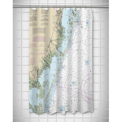 Weimer Island Chart Shower Curtain