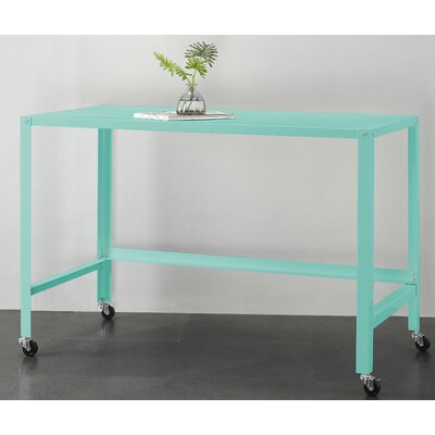 Brewster Metal Console Rolling Desk Color: Yucca
