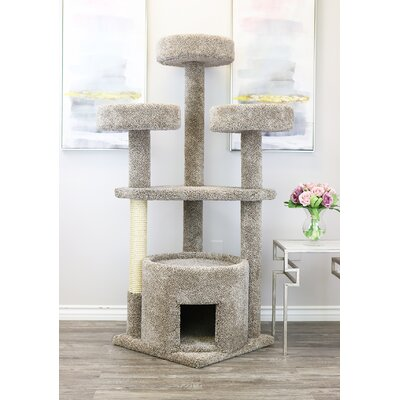 "65"" Main Coon House Cat Condo"