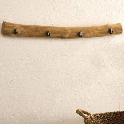 Pickney Recycled Teak Wood Wall Mounted Coat Rack
