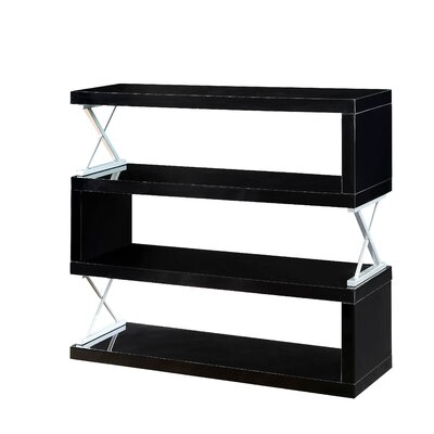 Parson 4 Shelf Standard Bookcase Color: Black