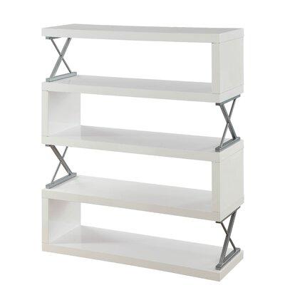 Parson 5 Shelf Standard Bookcase Color: White