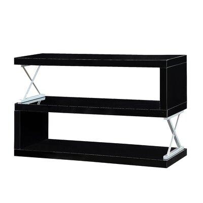 Parson 3 Shelf Standard Bookcase Color: Black