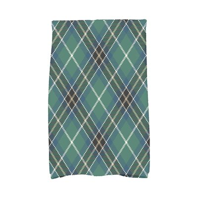 Welliver Mad for Plaid Holiday Hand Towel Color: Navy Blue
