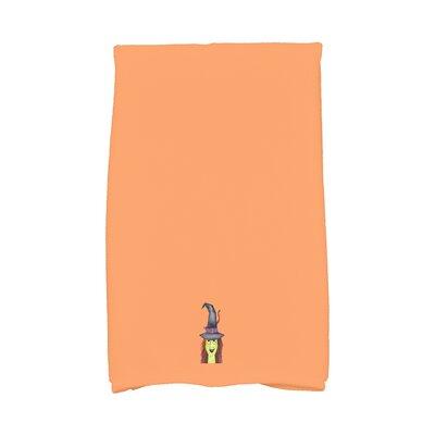 Maser Hat Halloween Hand Towel Color: Orange