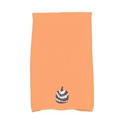 Maser Pumpkin Single Halloween Hand Towel Color: Orange