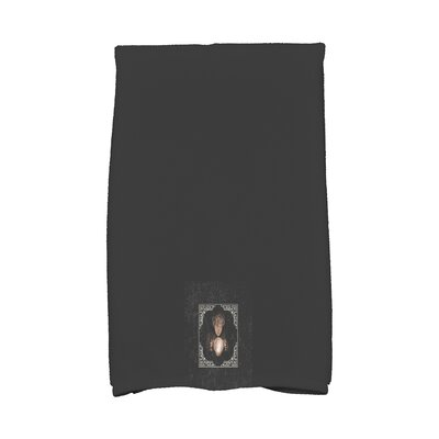 Maser All Seeing Psychic Halloween Hand Towel Color: White