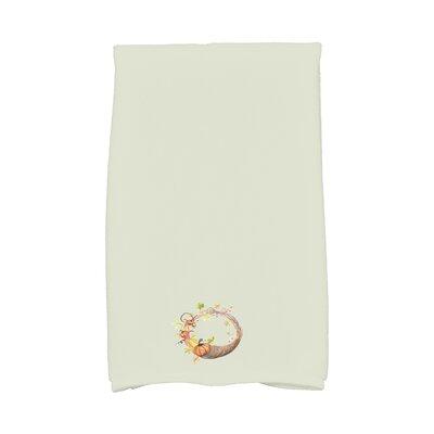Bigner Cornicopia Wreath Fall Hand Towel Color: Light Green