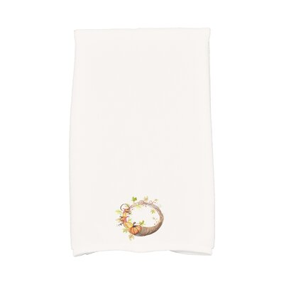 Bigner Cornicopia Wreath Fall Hand Towel Color: White