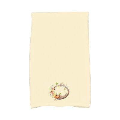 Bigner Cornicopia Wreath Fall Hand Towel Color: Light Yellow