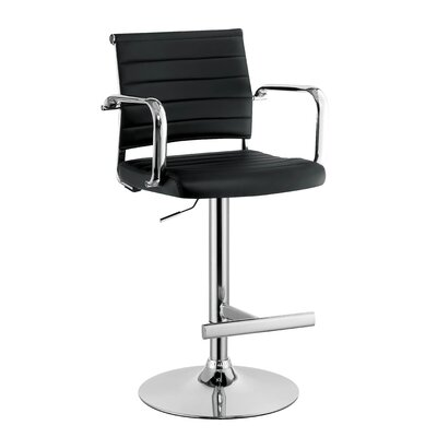 Northpoint Adjustable Height Bar Stool Color: Black