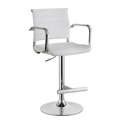 Northpoint Adjustable Height Bar Stool Color: White