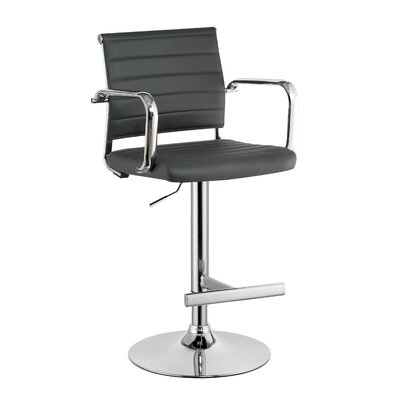 Northpoint Adjustable Height Bar Stool Color: Gray