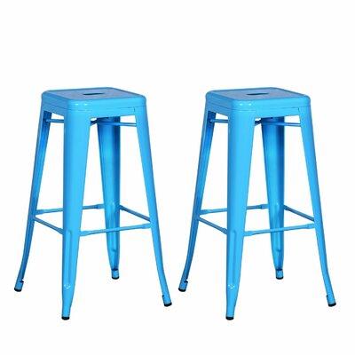 """Gerner 30"""" Bar Stool Color: Light Blue"""