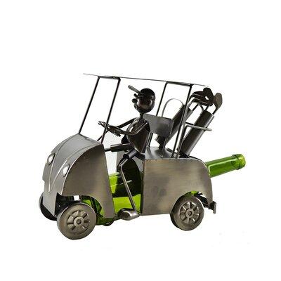 Golf Cart Holder Metal Display Home and Kitchen 1 Bottle Tabletop Wine Rack
