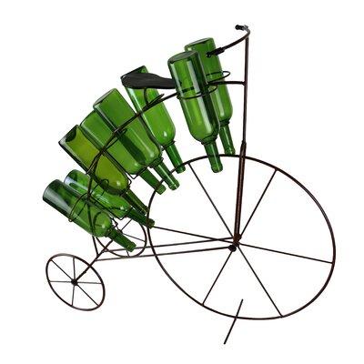 Tricycle Holding Metal 8 Bottle Tabletop Wine Rack