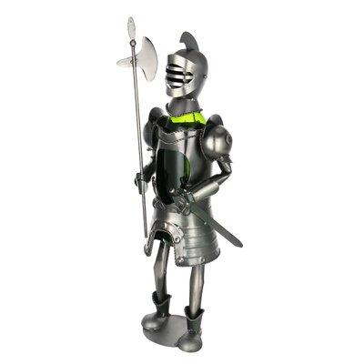 Knight Medieval Middle Ages Holder 1 Bottle Tabletop Wine Rack