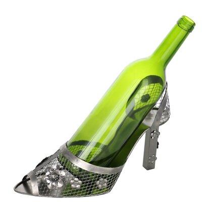 Women's High Heel Shoe Metal Humorous Kitchen Holder 1 Bottle Tabletop Wine Rack